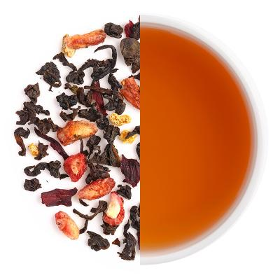 Pomegranate Swirl Iced Tea Dry Tea Leaves & Liquor