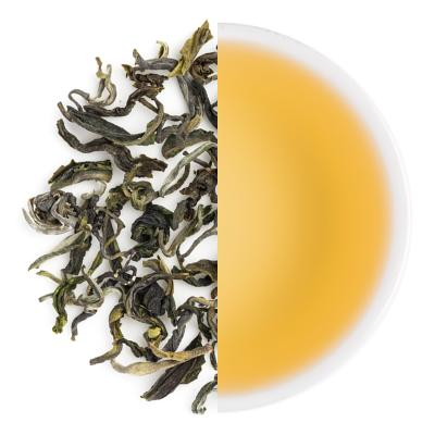 Mouling Classic Autumn Green Dry Tea Leaves & Liquor