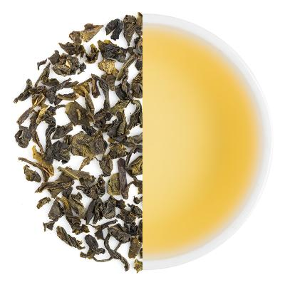 Burnside Classic Spring Green Dry Tea Leaves & Liquor