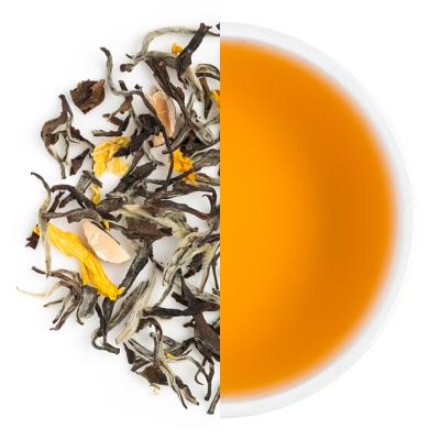 Indian Marigold Dry Tea Leaves & Liquor