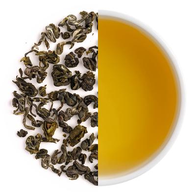 Green Hill Classic Spring Green Dry Tea Leaves & Liquor