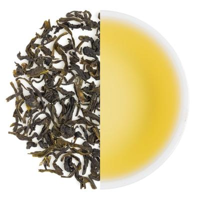 Wah Classic Spring Green Dry Tea Leaves & Liquor