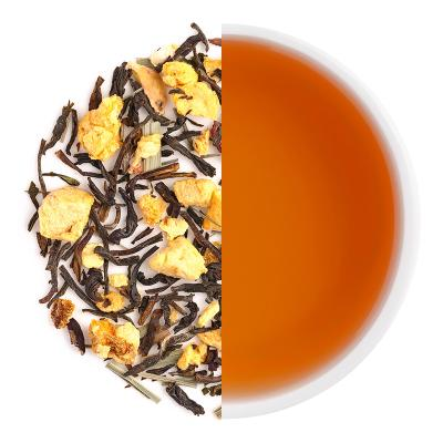 Peach Tango Iced Tea Dry Tea Leaves & Liquor
