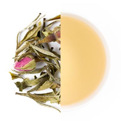 Rose Mist Dry Tea Leaves & Liquor