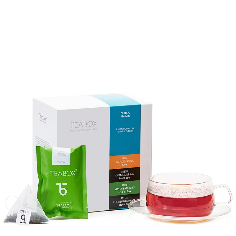 Classic Tea Mix with Orbit Cup & Saucer